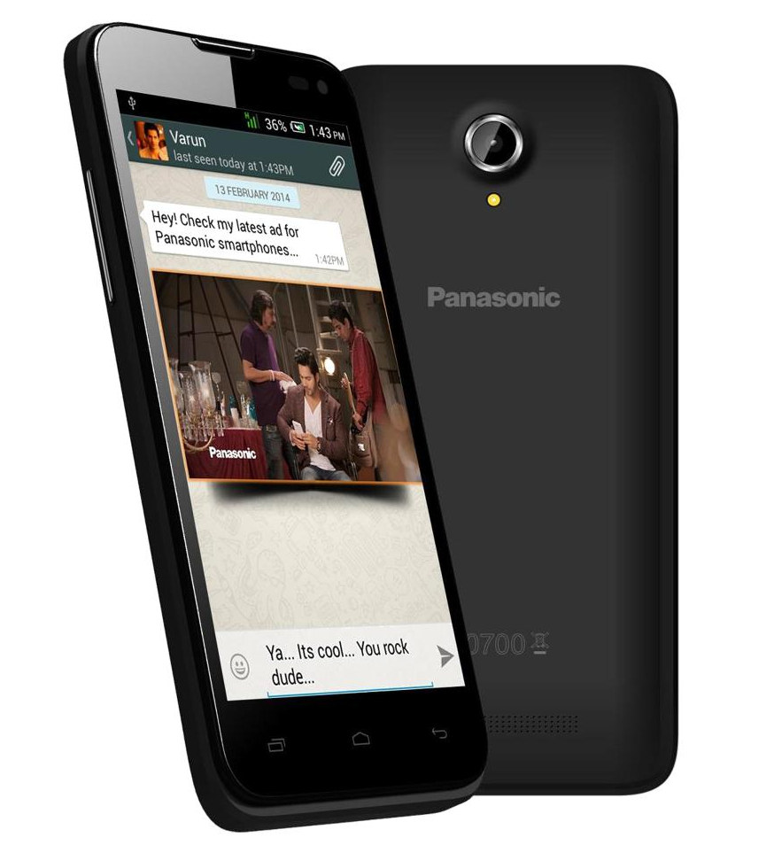 Camera 4.5 Android Phone panasonic t41 with 4 5 inch display android now available for rs 7999