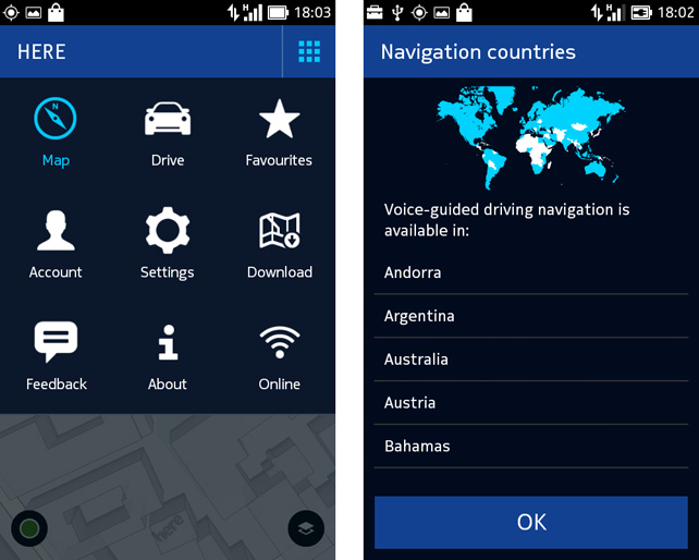 here maps for nokia x updated with global navigation and voice directions. Black Bedroom Furniture Sets. Home Design Ideas