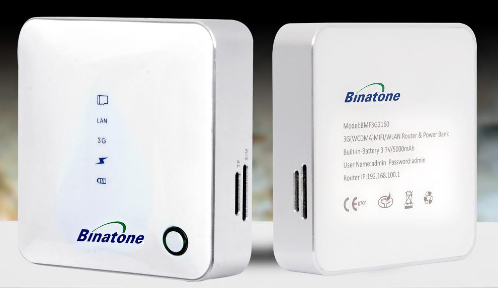 Binatone BMF3G2160 3G MiFi Router