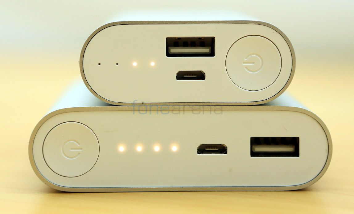 the smaller 5200mah power bank is  pact and can fit in your jean