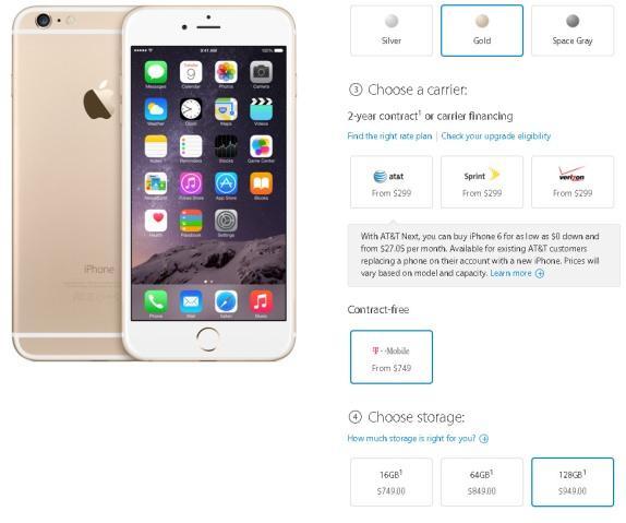 iphone 6 128g pris