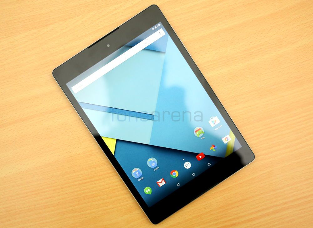 Google Nexus 9 tablet in Lunar White color micro USB cable AC charger