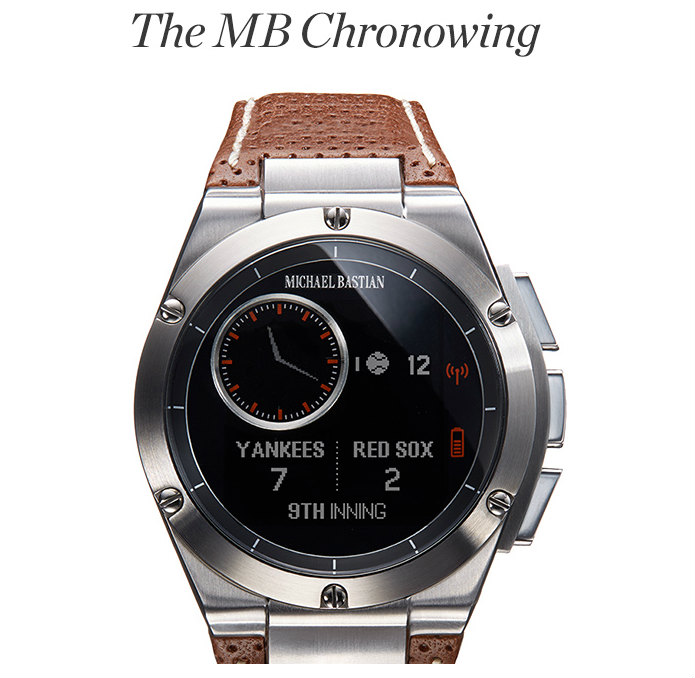 HP, Michael Bastian introduce the MB Chronowing Smartwatch