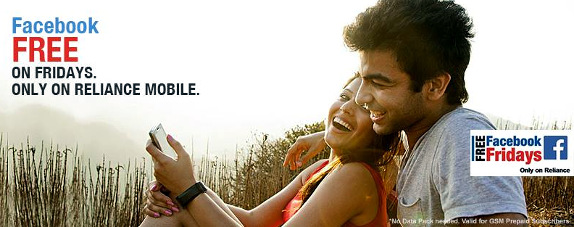 Rcom offers free Facebook access on Fridays for its prepaid GSM customers