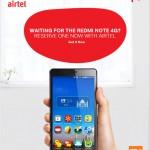 Book Redmi Note 4G on Airtel