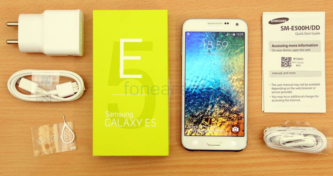 Samsung Galaxy E5 Unboxing