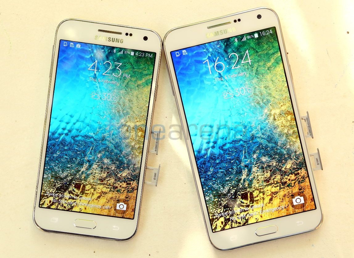 Samsung Galaxy E5 vs Galaxy E7 Photo Gallery