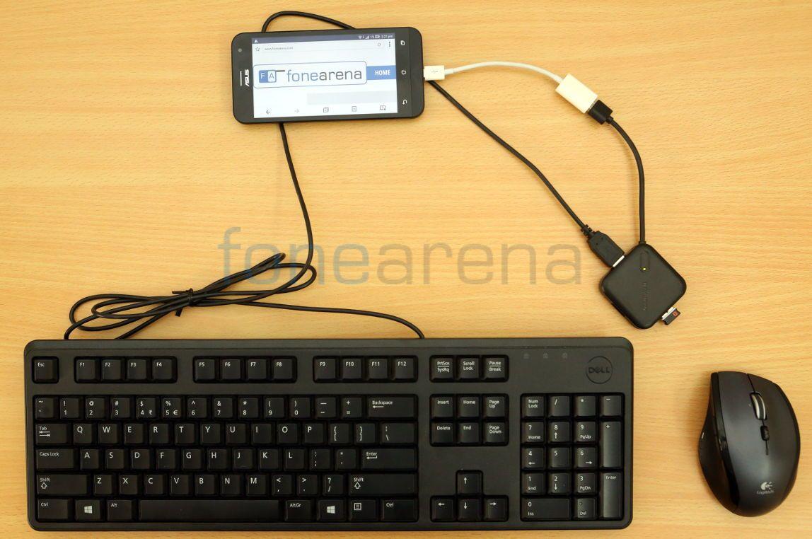 Asus Zenfone 2 USB OTG And Miracast Demo
