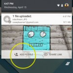 Google Drive for Android Share from Notification