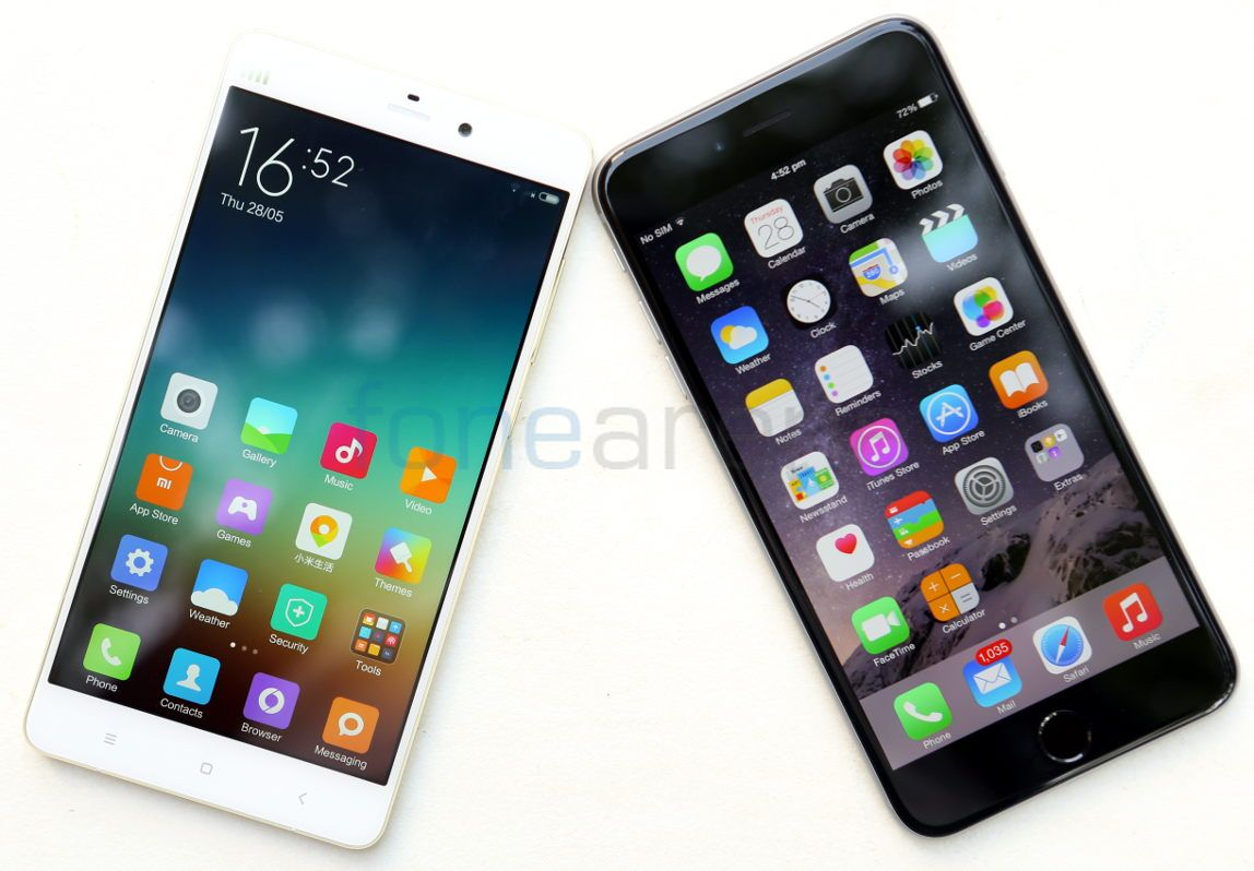 xiaomi note vs iphone 6 plus the cost replacing