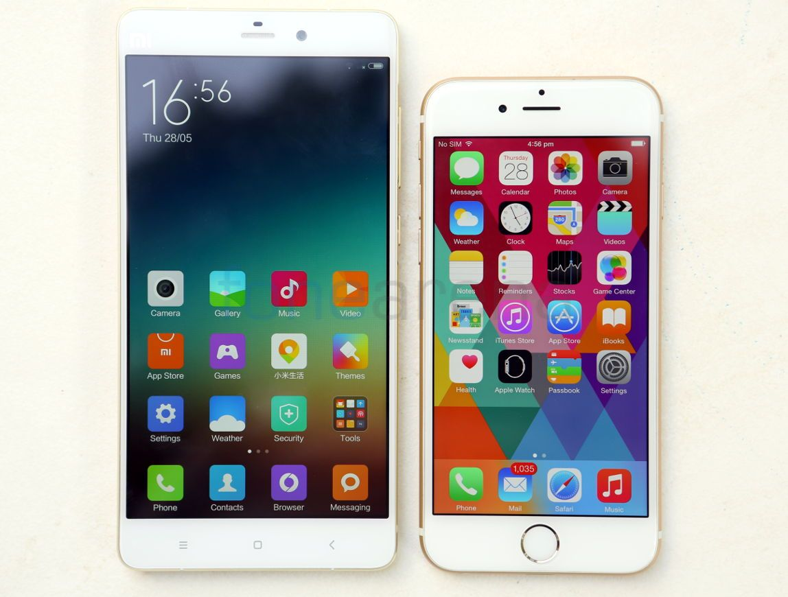 Xiaomi Mi Note Pro Vs Apple Iphone 6 Photo Gallery