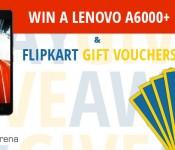 Lenovo A6000 Plus and Flipkart Vouchers Giveaway