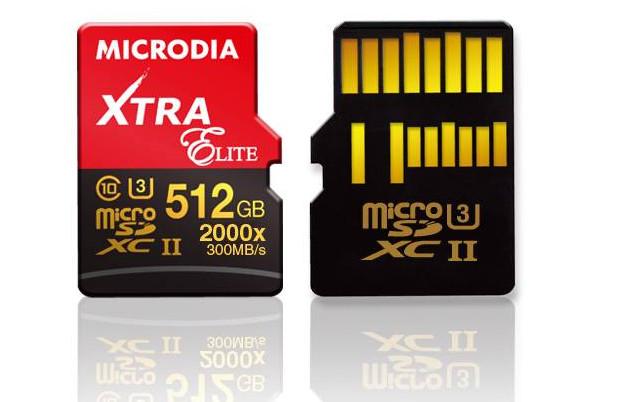 Microdia 512gb xtra elite microsdxc world s highest capacity sd card