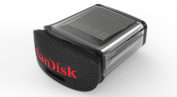 sandisk introduces world 39 s smallest 128gb usb 3 0 ultra fit flash drive. Black Bedroom Furniture Sets. Home Design Ideas