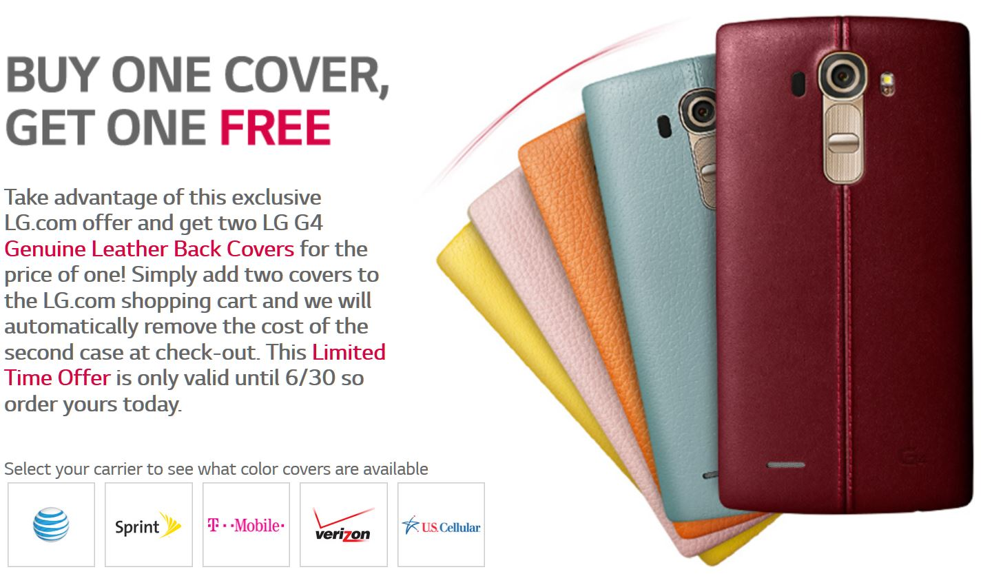 LG G4 leather covers now available for pre-order in USA – Buy one get one free