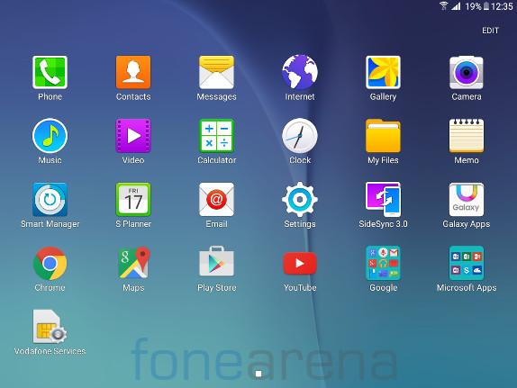 Galaxy tablet writing app