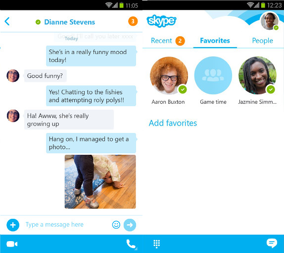 how to search chats on skype sndroid