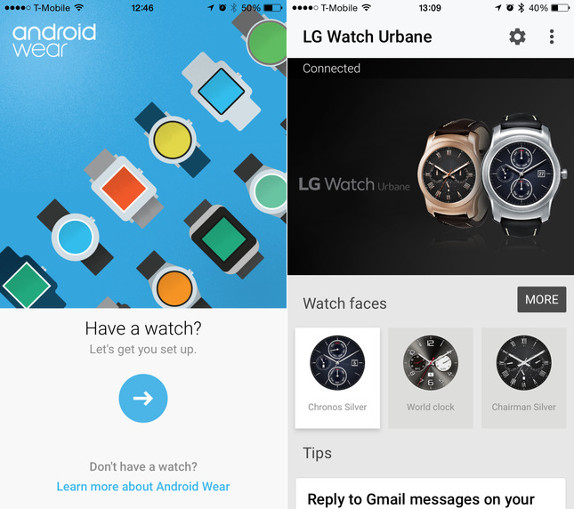 Android Wear app for iPhone
