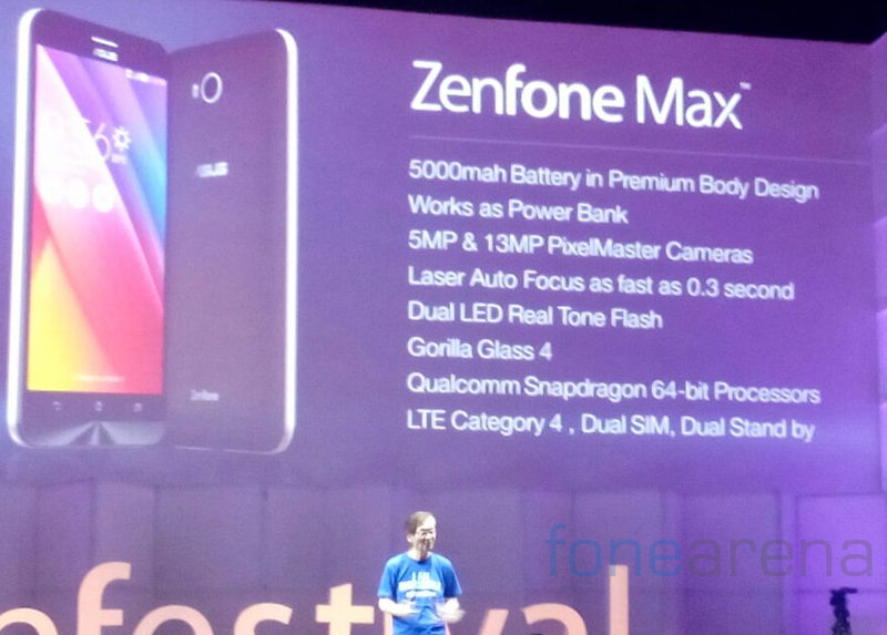 Asus zenfone max with 55 inch hd display 5000mah battery asus zenfone max launch sciox Choice Image
