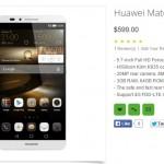 Huawei Mate S listing
