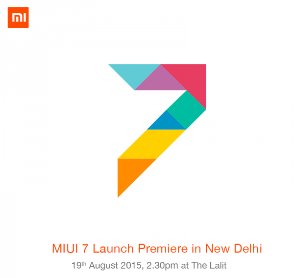 Xiaomi MIUI 7 India launch Premier New Delhi
