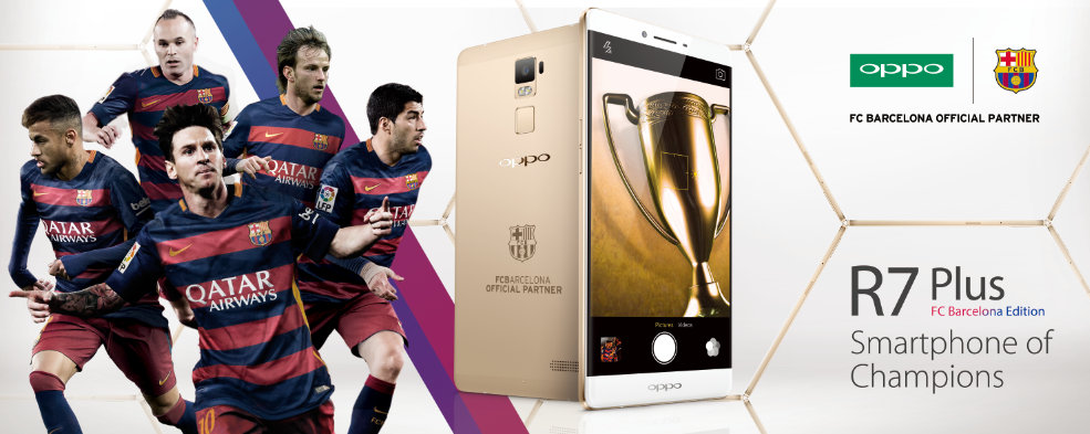 OPPO R7 Plus FC Barcelona Edition launched
