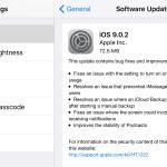 Apple iOS 9.0.2 update
