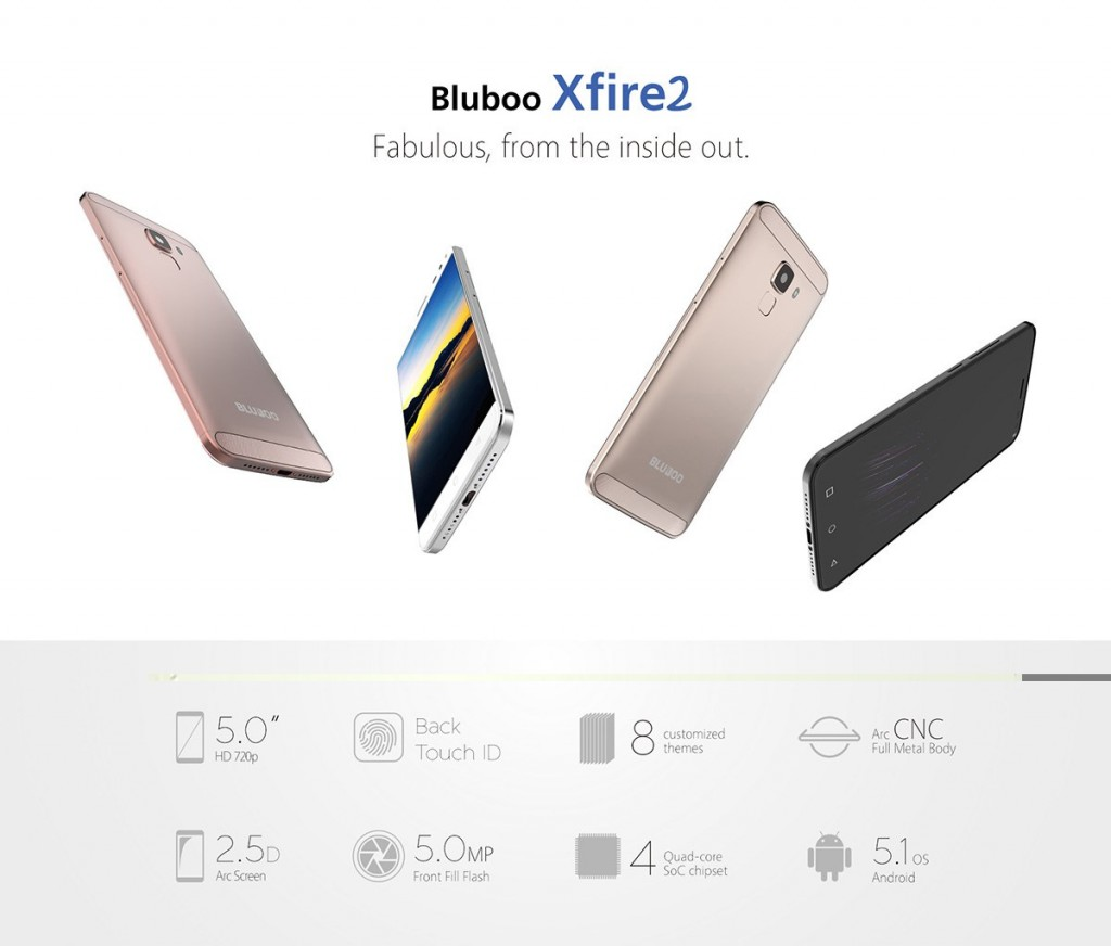 Bluboo XFire2 announced – Comes with a fingerprint scanner for just US$ 59.99