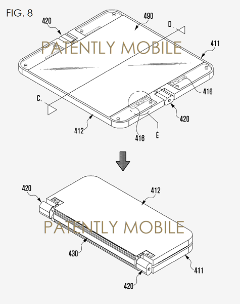 samsung patents foldable smartphone with a projector