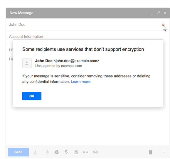 Gmail will now alert users about unsecured emails
