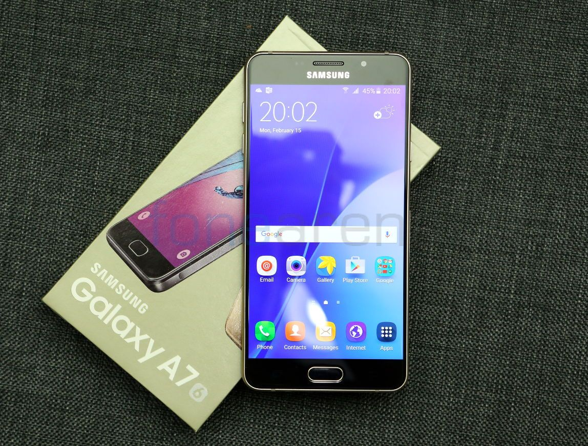 Samsung Galaxy A7 2016 Unboxing Smartphone