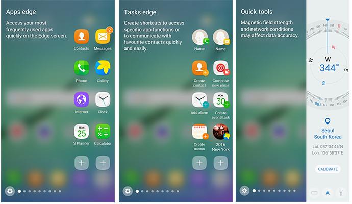 Samsung Galaxy S6 edge Android 6.0 edge screen