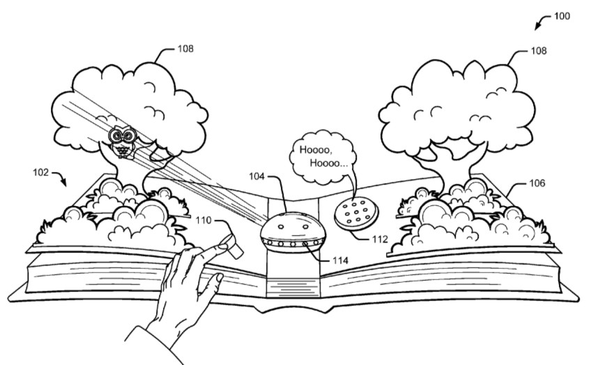 Google files patent for AR-based pop-up book