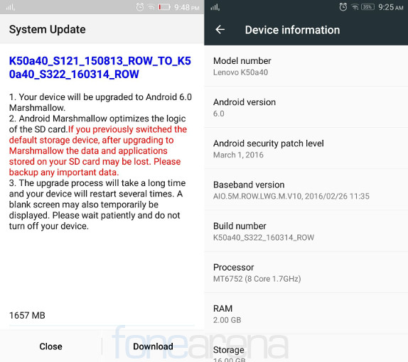 Lenovo K3 Note Android 60 Marshmallow Update With