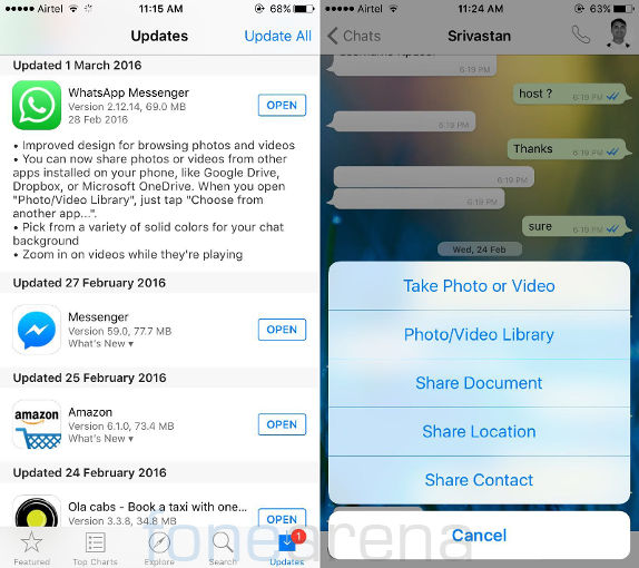 WhatsApp for iPhone v2.12.14