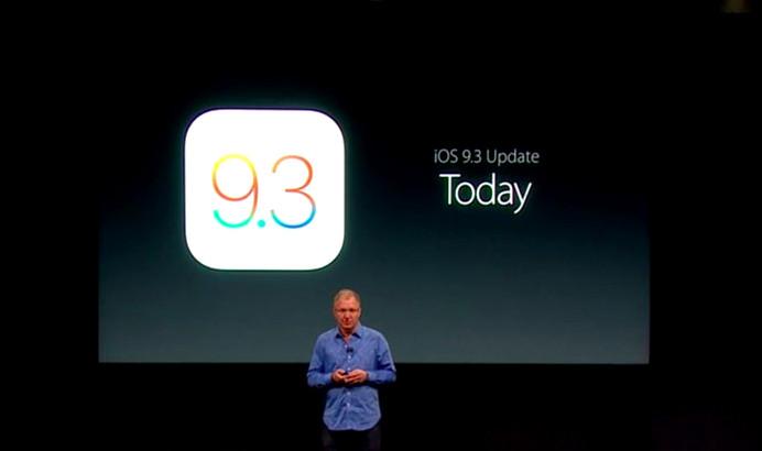 iOS 9.3 update