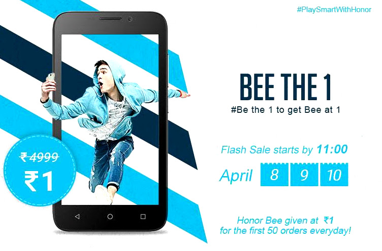 Get Honor Bee for Re. 1 in flash sale on April 10