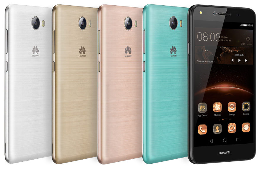 Huawei Y5 II with 5-inch HD display, front camera with flash and Y3
