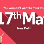 Motorola India event invite May 17