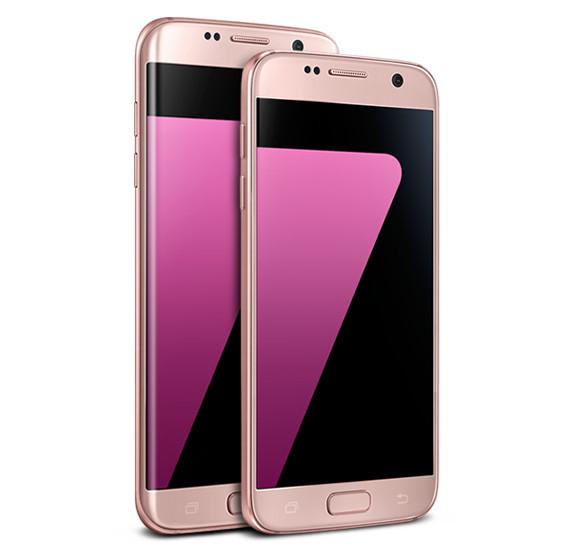 Samsung Galaxy S7 dan S7 Edge Pink Gold