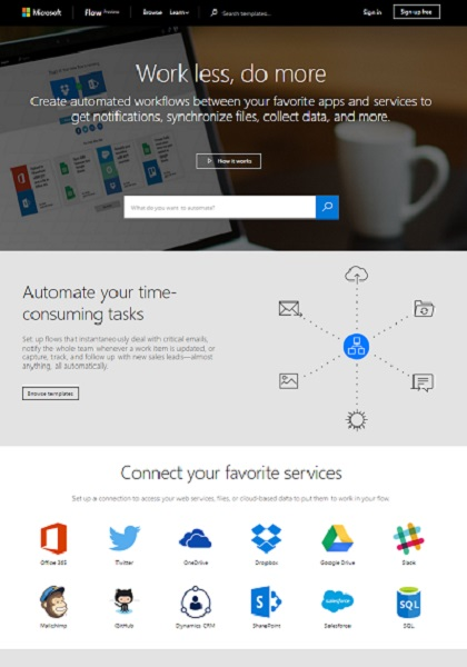 Microsoft releases public preview of Flow, IFTTT rival
