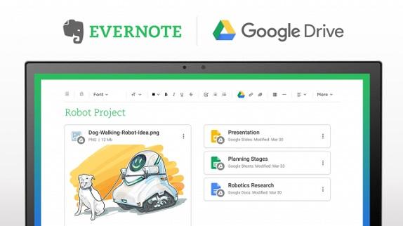Evernote gets Google Drive integration