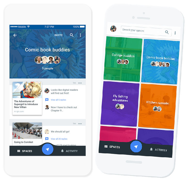 Google Spaces group sharing app to shut down on April 17