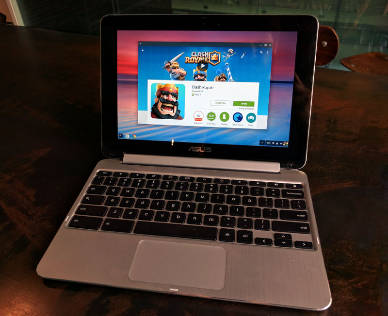 Google Play Store Android apps Asus Chromebook Flip