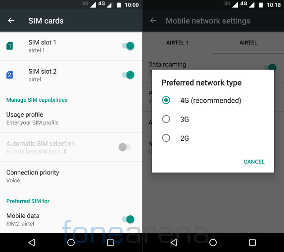 Moto G4 Plus Dual SIM and Connectivity