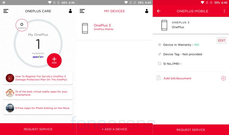 OnePlus 3 damage protection plan