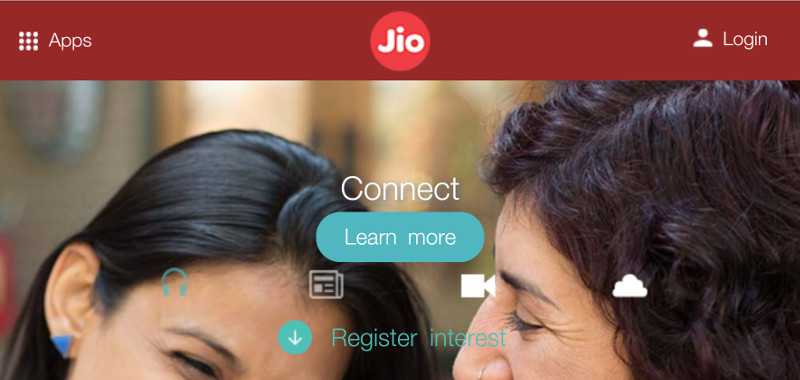 Reliance Jio website