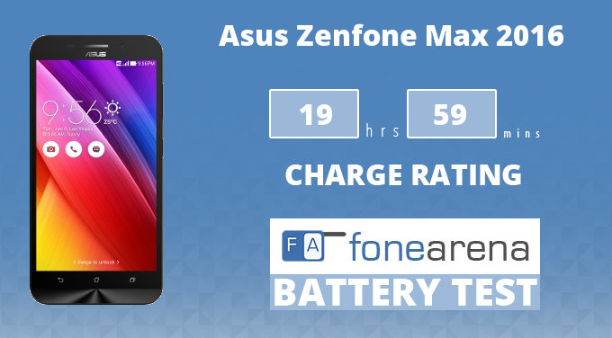 Asus Zenfone Max 2016 FA One Charge Rating