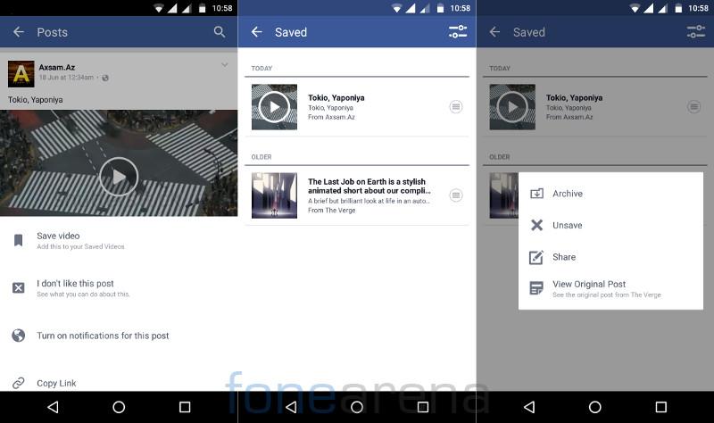 Facebook Save Video Offline