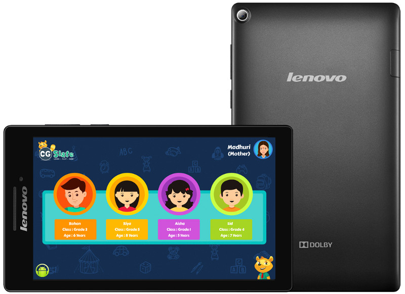 Lenovo CG Slate Edutainment Tablet For Kids Launched For